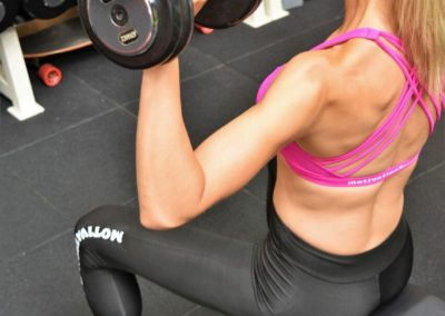 Amy inspires us all with her commitment and dedication to the gym.