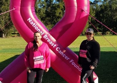 Kerrie and Belinda at the 2019 Mothers Day Classic Marathon for Breast Cancer Awareness