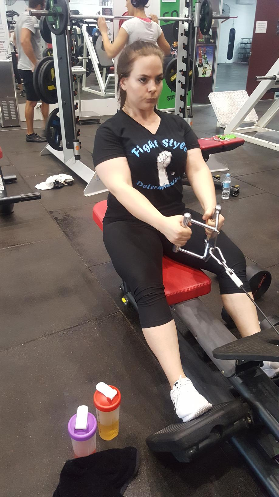 Belinda is a committed to the gym and fitness.