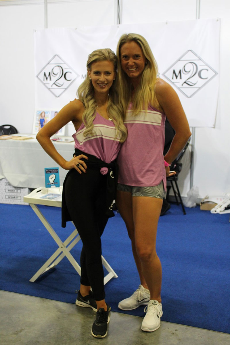 m2c's beautiful promo models for the Sydney Fitness Expo 2018. Charlotte Allison-Bruce who is Miss Intercontinental Australia 2017 and Alecia Hughes, personal trainer and fitness enthusiast.