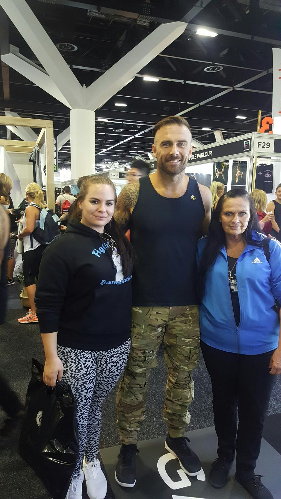 Hanging out with Commando at Sydney Fitness Expo 2018.