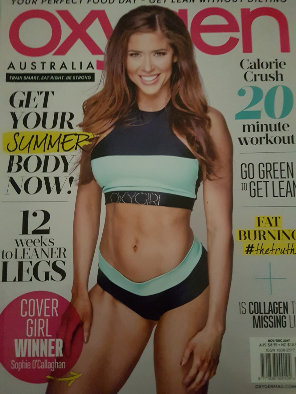 """""""I find Motivation 2 Conquer a very inspiring and motivating brand"""".                                    Quote: Sophie O'Callaghan. Covergirl Oxygen Magazine Australia."""